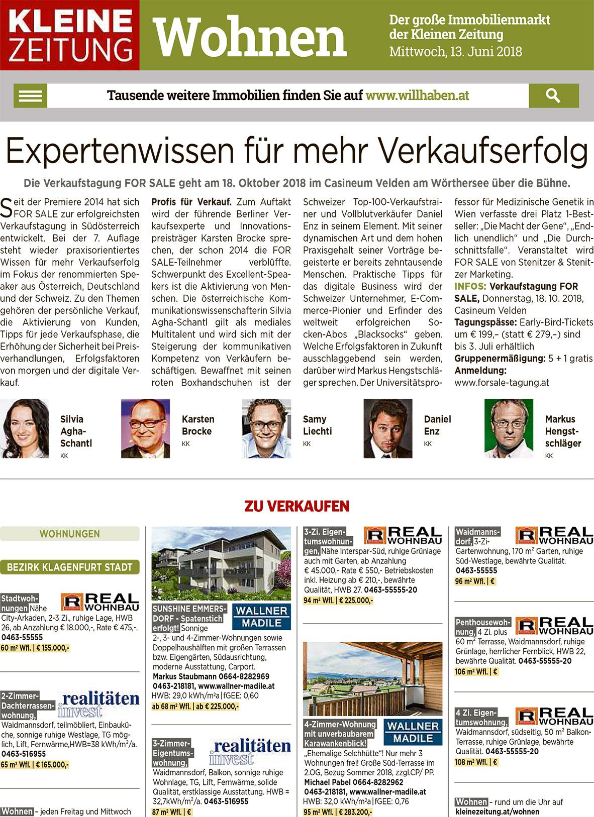 Presse For Sale Fachtagung Verkauf